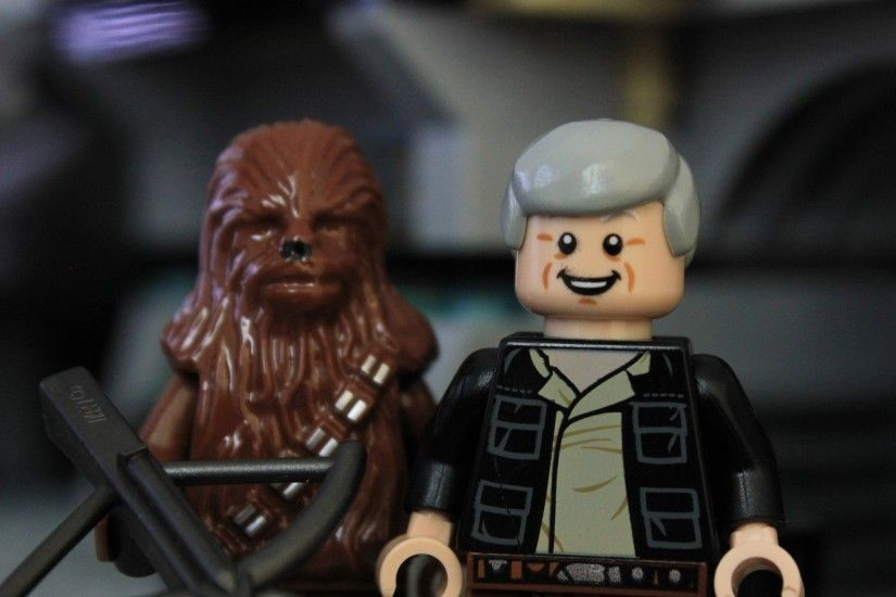 3840x2160 Wallpaper lego star wars, the force awakens, han solo, chewbacca