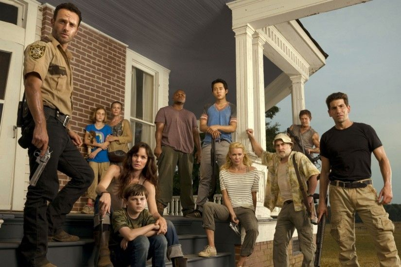 The Walking Dead cast 3840x2160 wallpaper