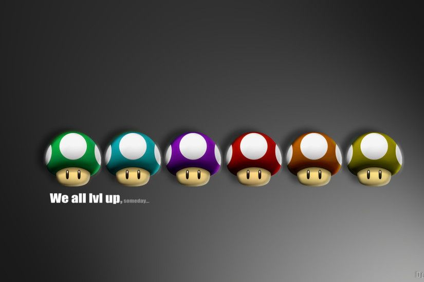 Abstract Geek Living Room Mario Minimalistic Mushroom