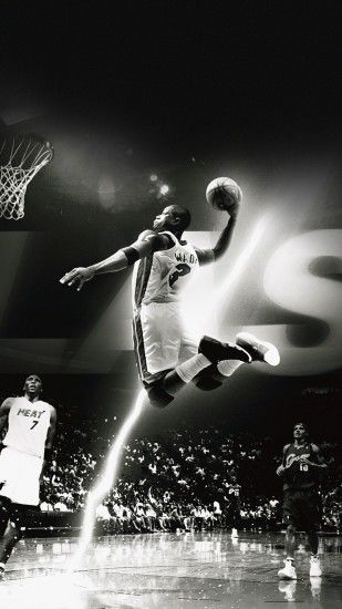 Dwyane Wade Dunk Miami Heat iPhone 6+ HD Wallpaper ...