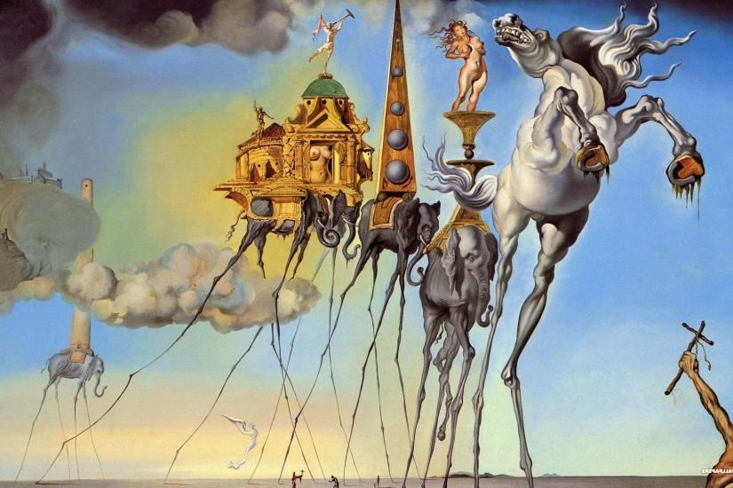large salvador dali wallpaper 1920x1080 photo