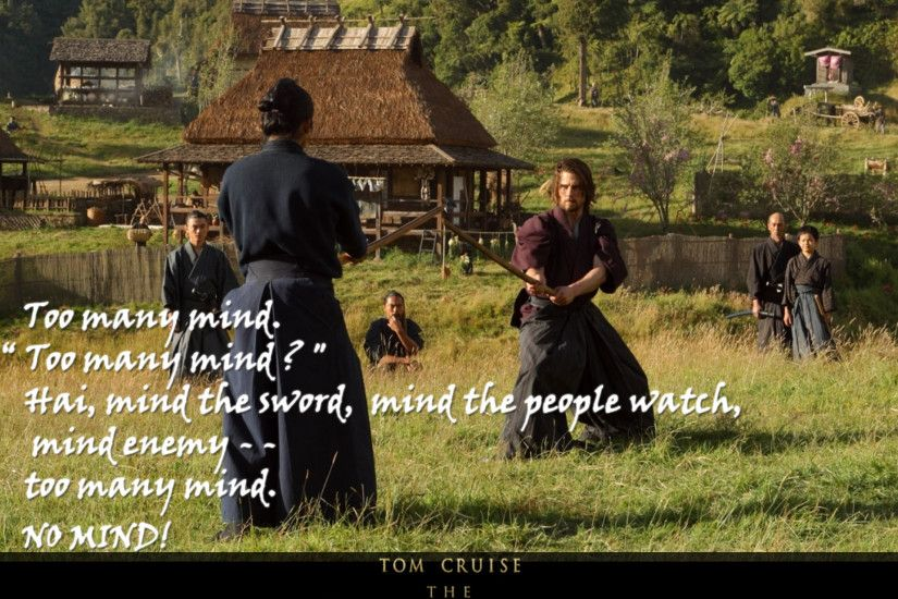 "Nobutaba's scene with Algren, teaching him to ""clear his mind"". #lastsamurai"