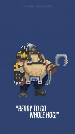 ... Roadhog - 'Overwatch' Pixel Phone Wallpaper by artofsully