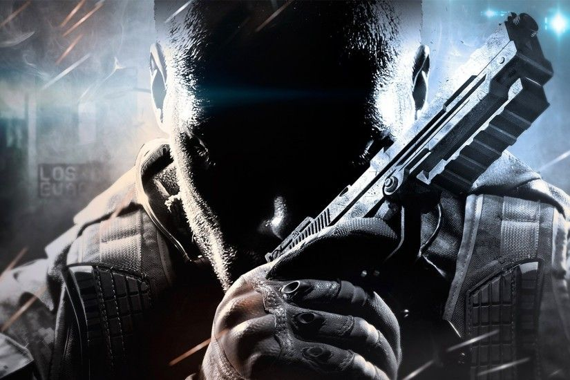 Preview wallpaper call of duty, black ops ii, face, arms 1920x1080