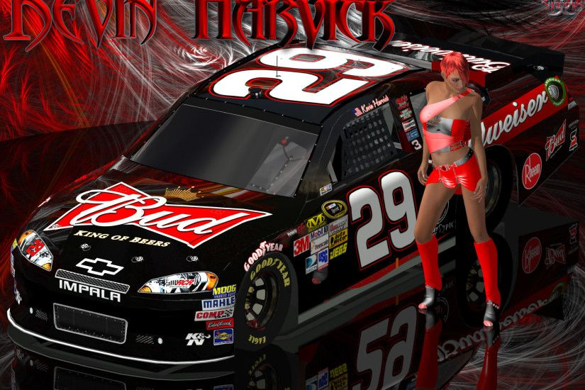 Facebook Cover Photo | Android | 4x3 | 5x4 | 16x9 | 16x10. Kevin Harvick  Lady In Red Wallpaper ...