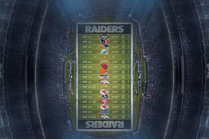 Raiders Schedule Wallpaper HD