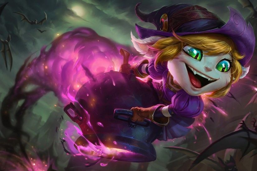 Video Game - League Of Legends Tristana (League Of Legends) Halloween  Bakgrund