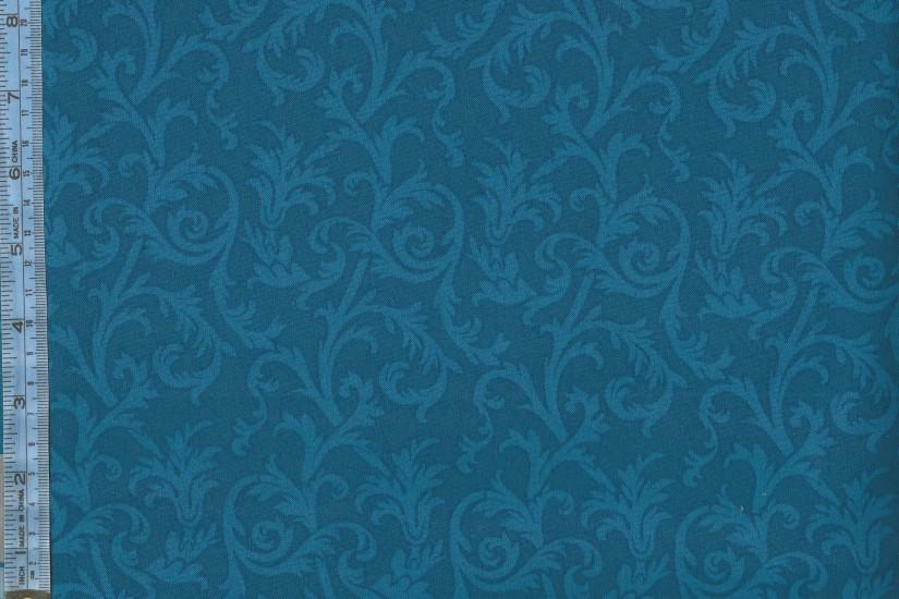 Mary's Blenders - blue viney scrolls on royal blue background