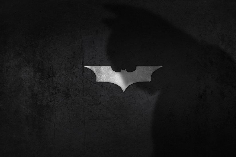 Preview wallpaper shadow, logo, batman, dark knight 2560x1440