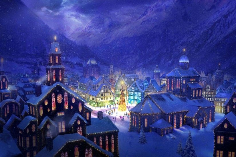 Christmas Village - Christmas Wallpapers - Wholles.com