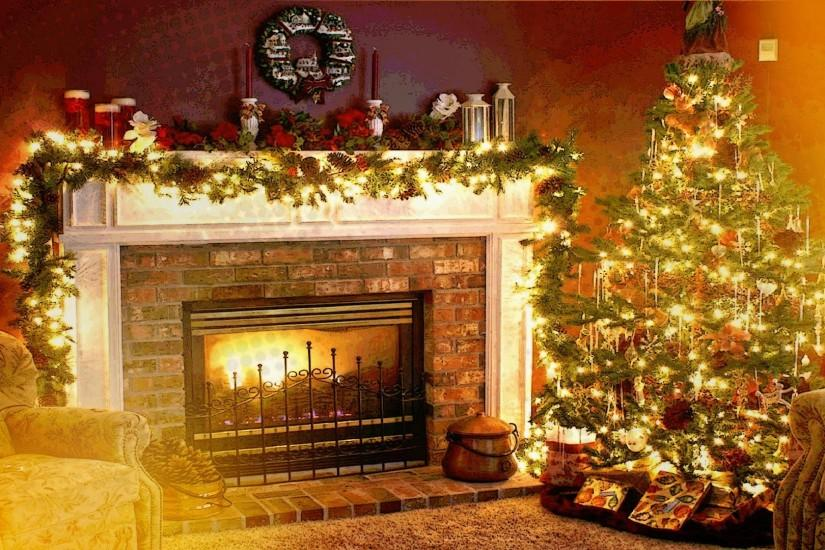 Christmas, Holiday, Fireplace, Interiors, Welcome Home Wallpaper HD