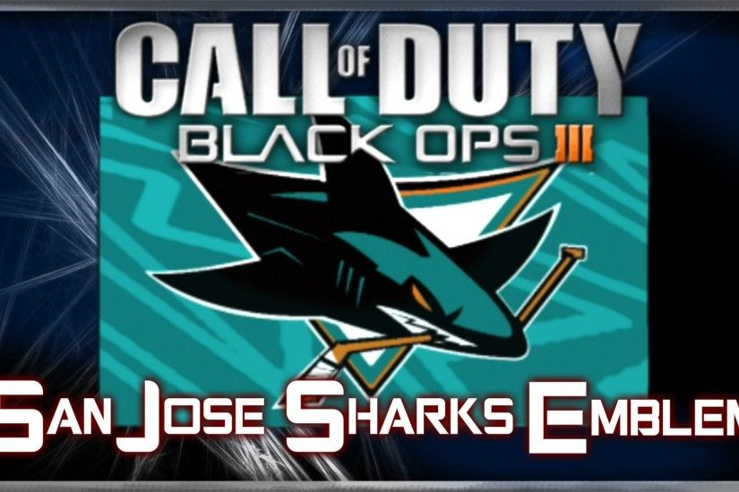 San Jose Sharks (NHL Hockey) - Call of Duty Black Ops 3 Emblem Tutorial |  By A Hooded Psycho - YouTube