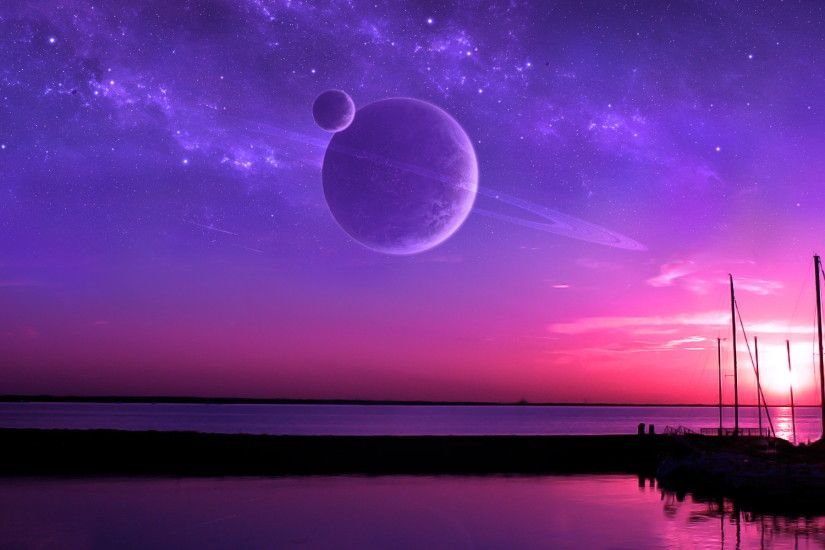 purple fantasy sunset 23184