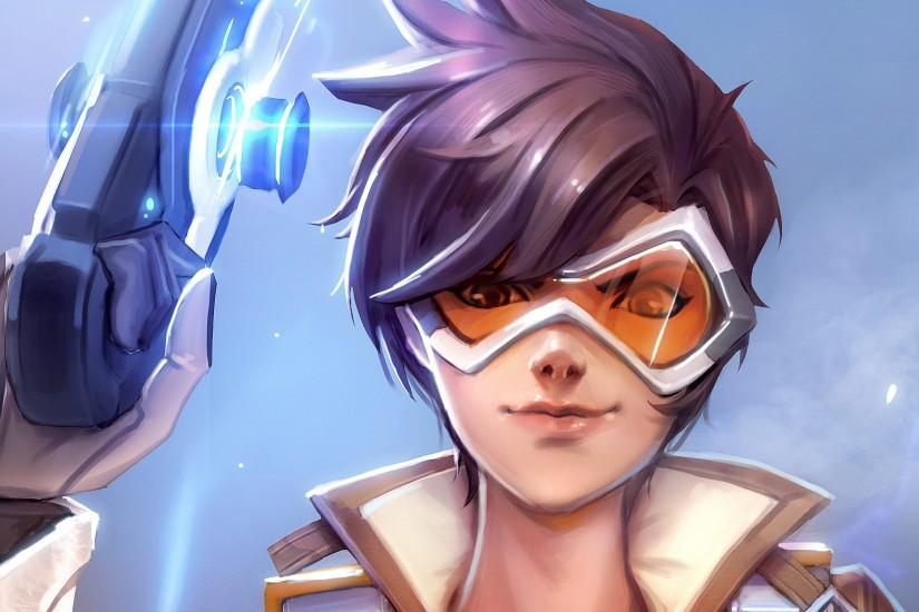popular overwatch tracer wallpaper 1920x1080 hd 1080p