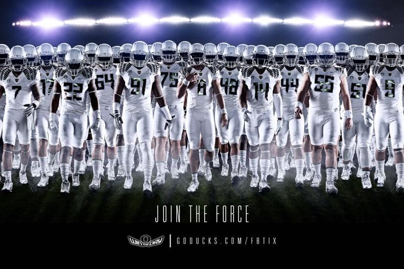 Join the force Oregon Ducks Football Wallpaper.
