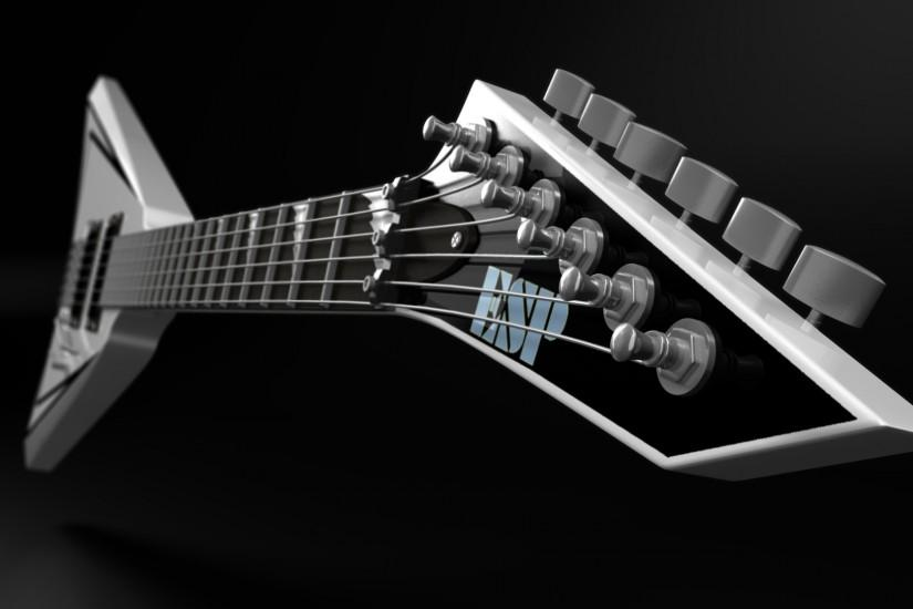 3d, guitar, music, art, desktop background, hd, wallpaper