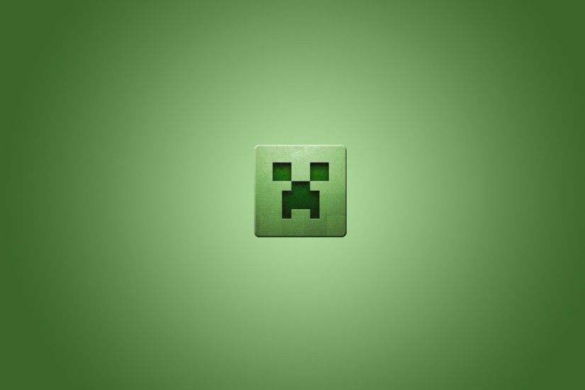 Video games minimalistic creeper Minecraft simplistic simple background  green background wallpaper | 1920x1080 | 223433 | WallpaperUP