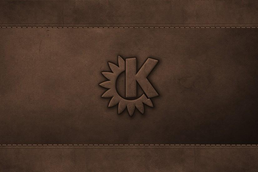 KDE on Leather Wallpaper by giancarlo64 KDE on Leather Wallpaper by  giancarlo64