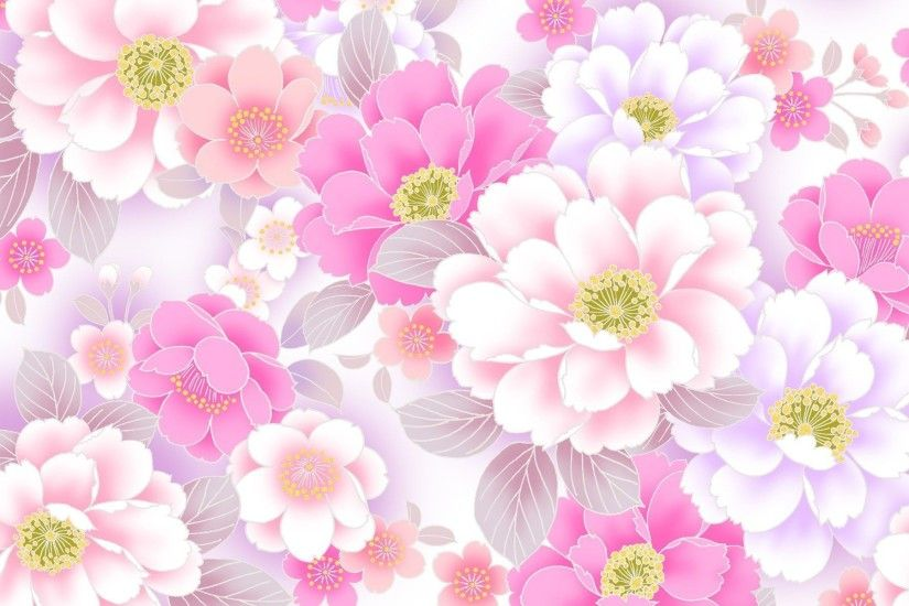 Pink Floral Wallpapers Wallpaper