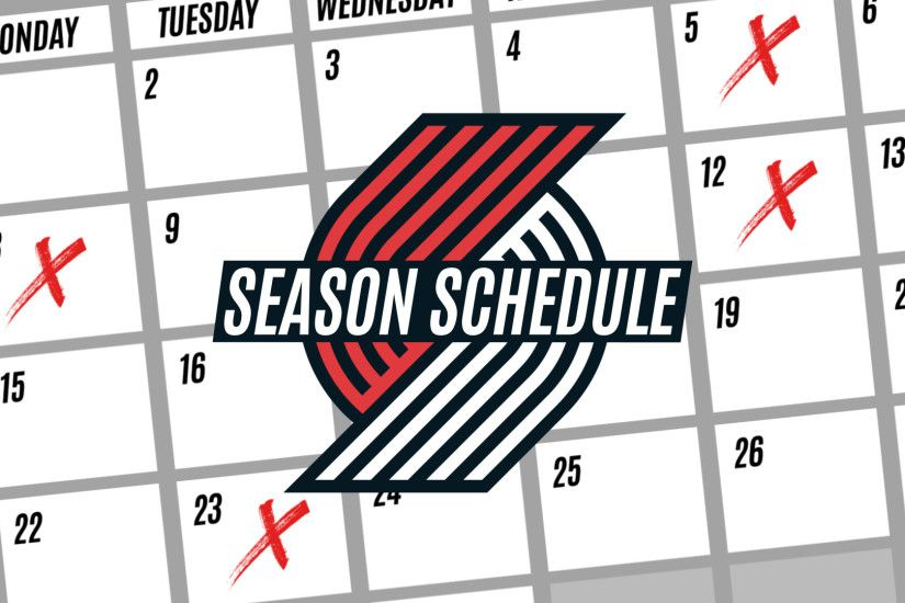 The entire 82 game Trail Blazer schedule is out!