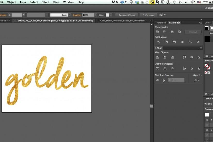 ... foil type! textured font in gold