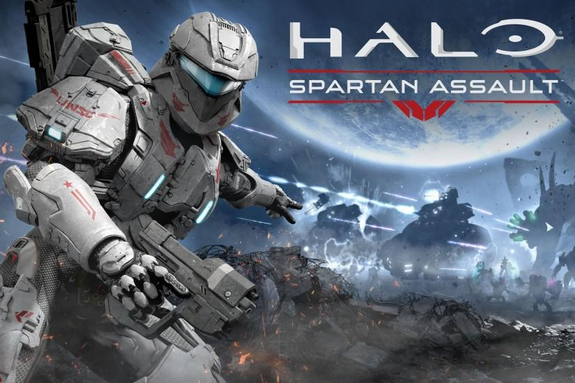 Halo wallpaper spartan assault game wide.