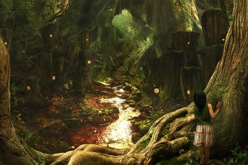 wallpaper.wiki-Enchanted-Forest-Wallpapers-HD-PIC-WPB006572
