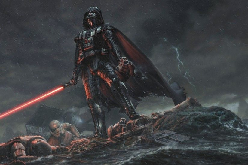 OtherA pretty badass Vader wallpaper I found.