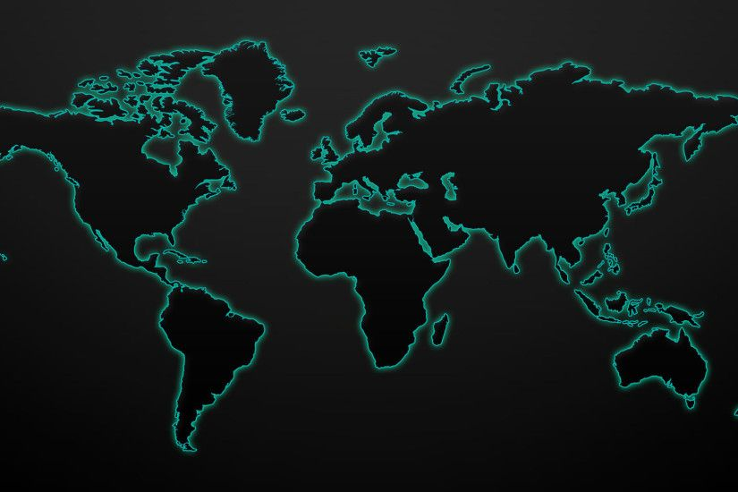 Glowing world map wallpaper 1920x1080 .