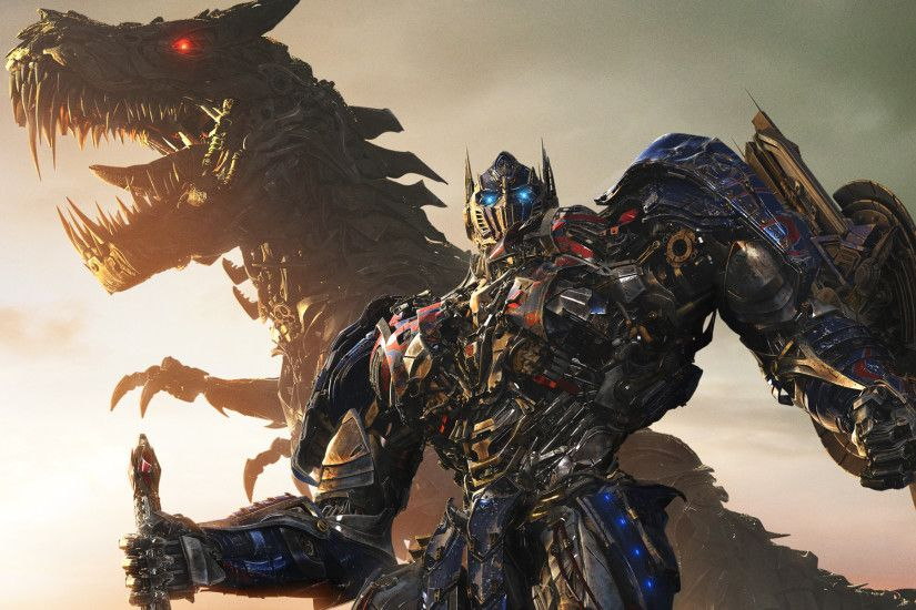Transformers Age of Extinction Prime and Dinobots Wallpaper