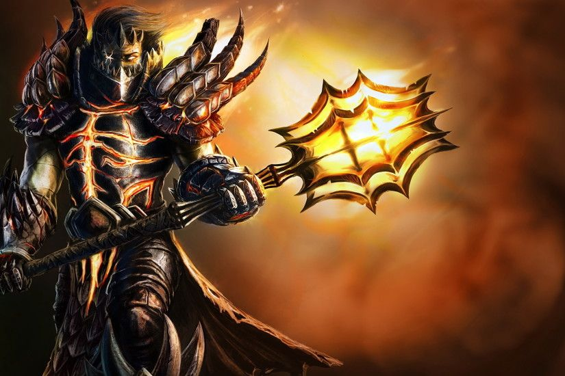 Wallpapers WoW Armor Mage Staff Warriors Deathwing Approach Fantasy Games  2560x1440 World of WarCraft armour
