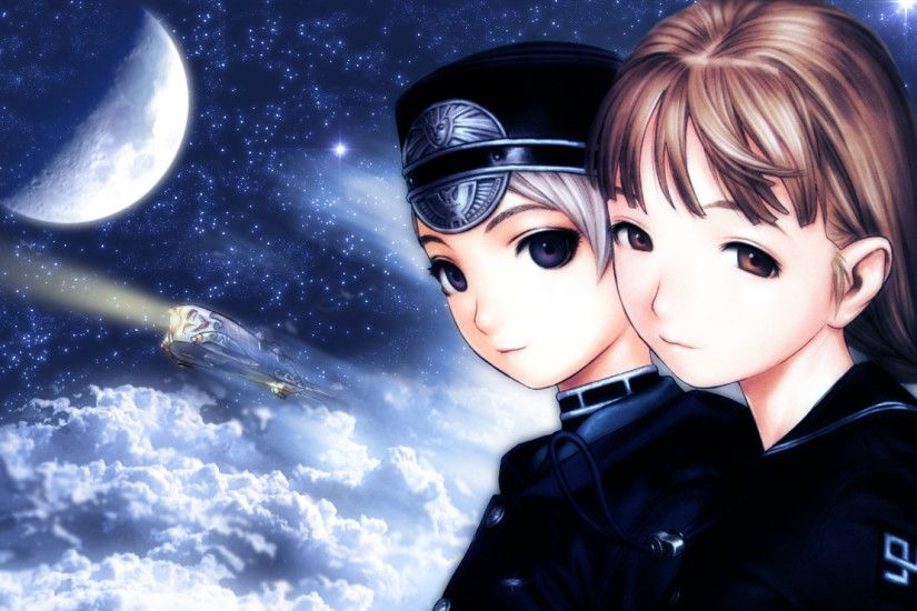 1920x1080 Wallpaper last exile, girls, space, look