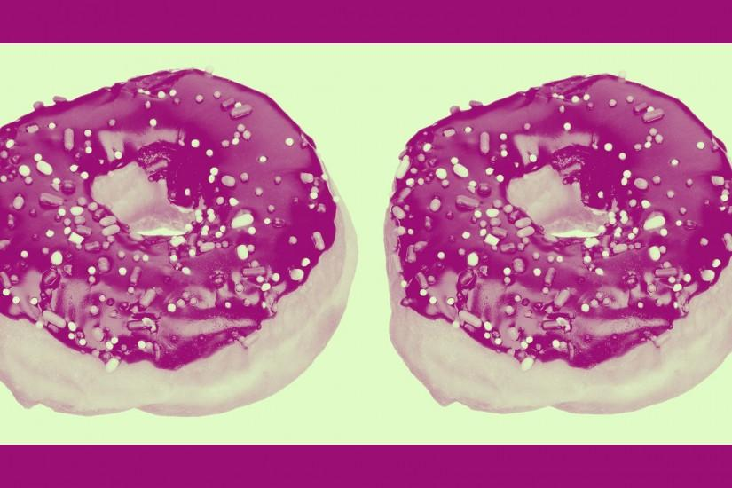SPRINKLED 2-PACK IN RASPBERRY & GRANNY SMITH. Donut wallpaper ...