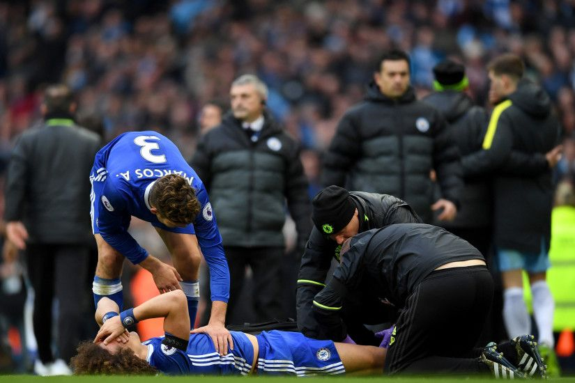Chelsea: David Luiz may not recover from Sergio Aguero tackle in time for  West Brom, admits Antonio Conte | The Independent
