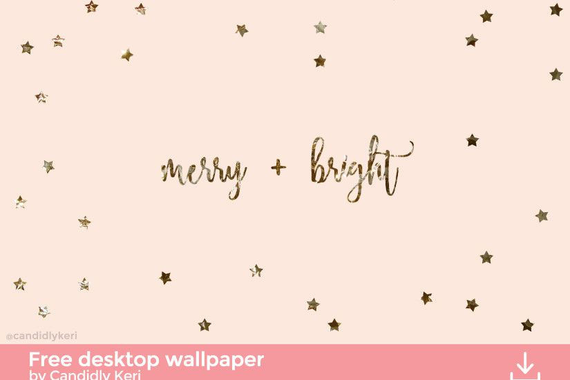 Merry and Bright gold foil pink stars background wallpaper you can download  for free on the