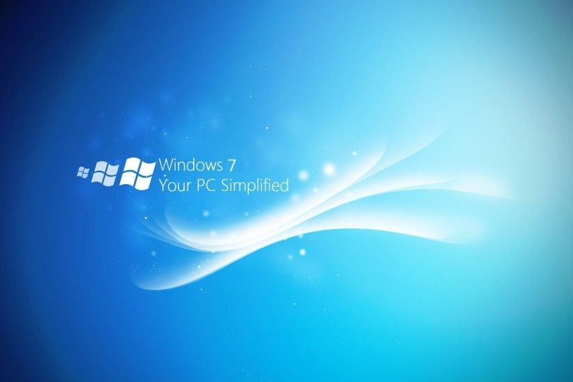 1920x1080 Wallpaper windows 7, lines, white, blue