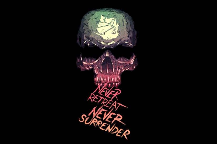 Never Retreat Never Surrender Skull Wallpaper