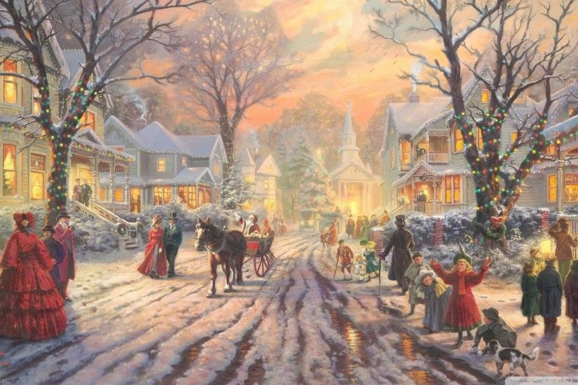 Thomas Kinkade Christmas Wallpaper (14)