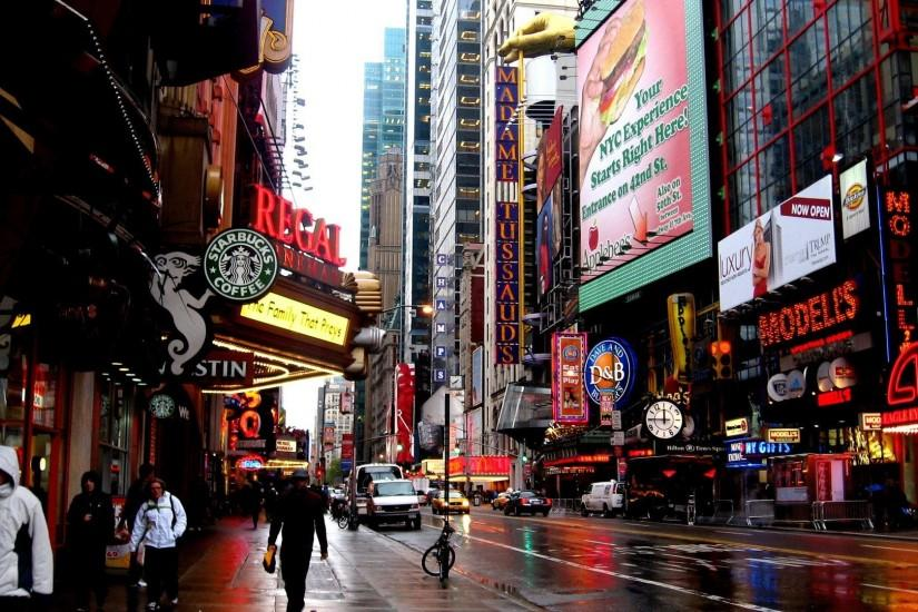 cityscapes streets architecture New York City wallpaper background .