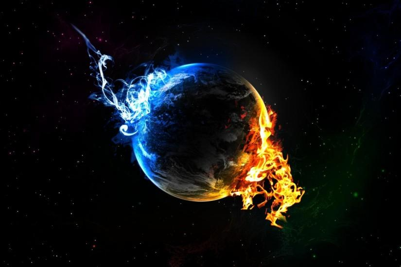 Wallpapers HD earth on fire.