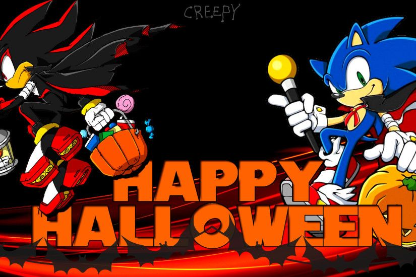... Wallpaper - Sonic and Shadow [Halloween] by Haalyle