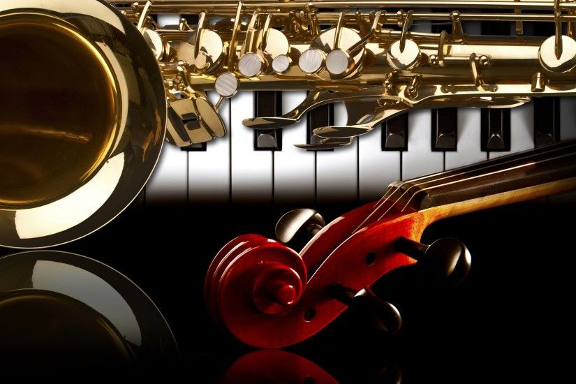 Band Musical Instruments Background