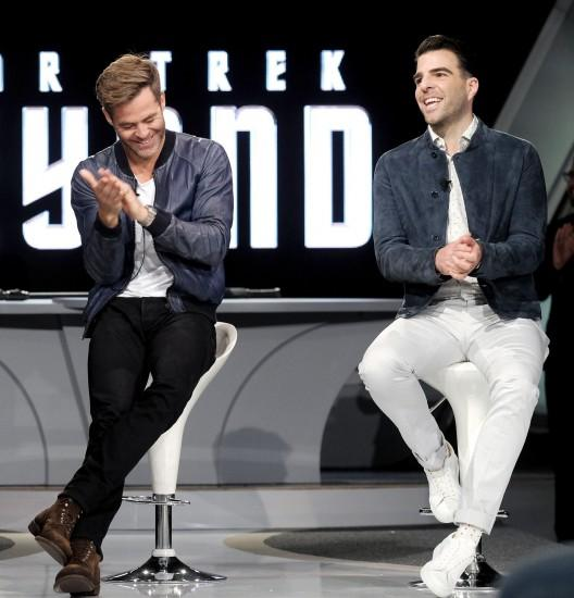 Star Trek Beyond images Chris Pine and Zachary Quinto | 'Star Trek Beyond'  Fan Event HD wallpaper and background photos