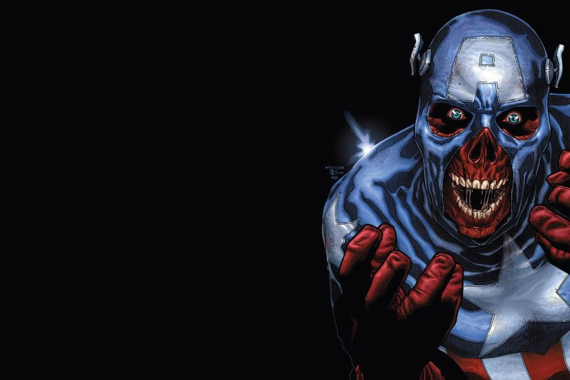 Preview wallpaper captain america, marvel, zombie art 1920x1080