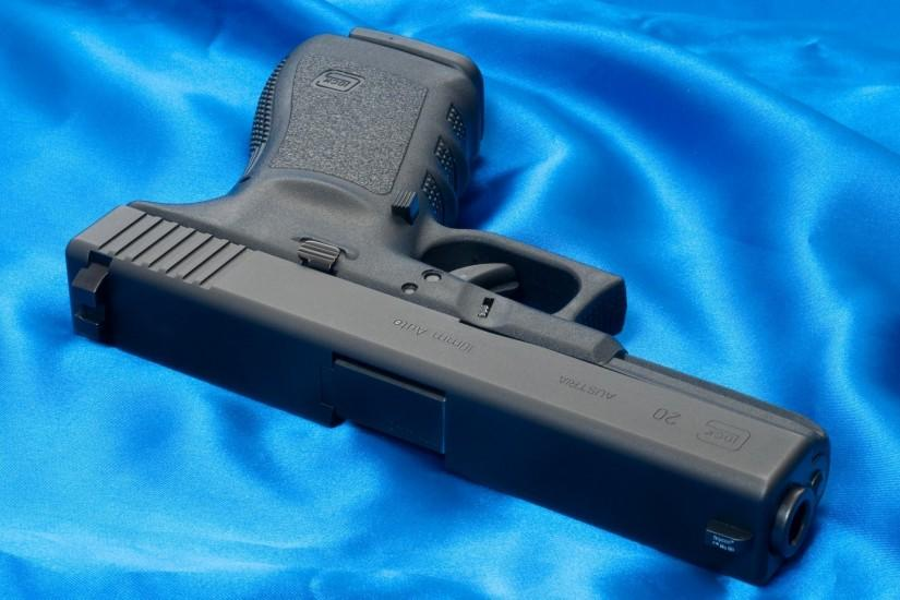 gun glock 20 weapon wallpaper blue glock austria weapons wallpapers