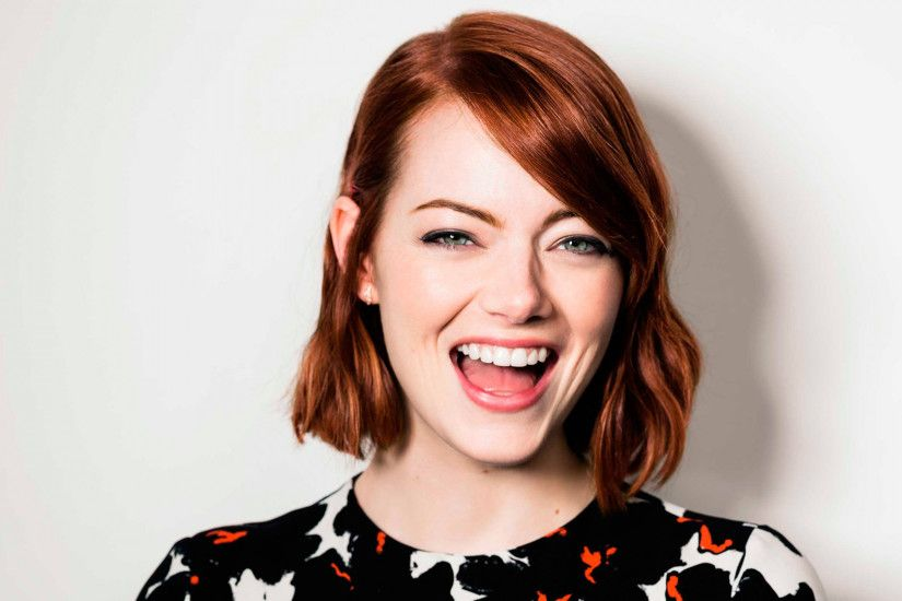 Preview wallpaper emma stone, joy, smile, face, deadline 1920x1080