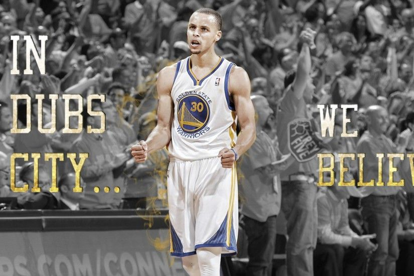 We Believe Warriors Steph Curry 4K Wallpaper