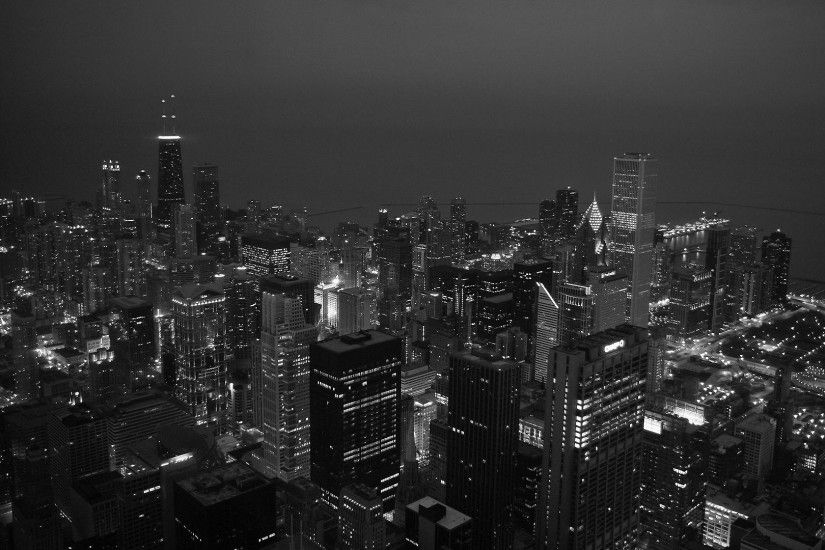Chicago Black And White Wallpaper Hd Resolution