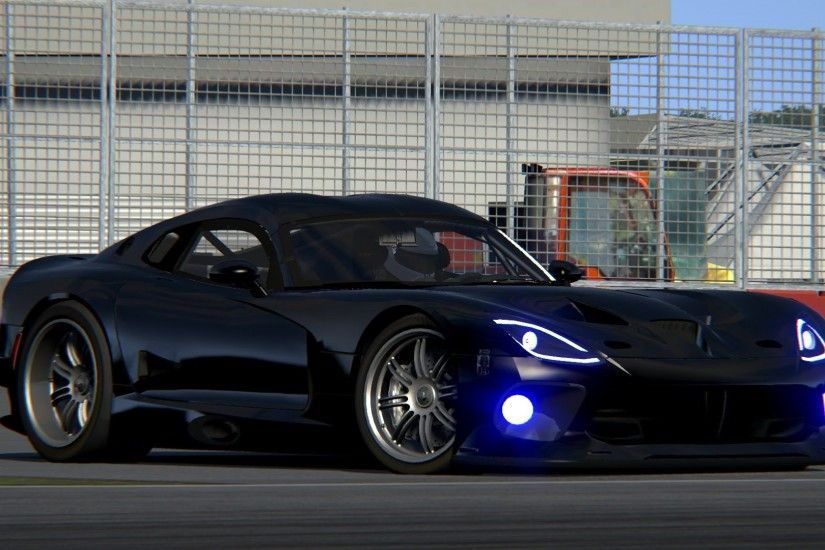 Black Dodge Viper SRT Wallpaper Wallpaper