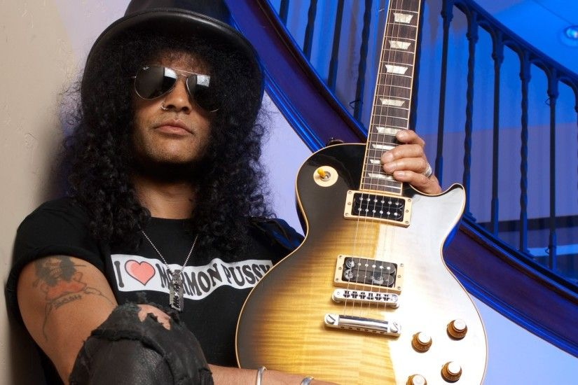 Preview wallpaper slash, guitar, glasses, stairs, tattoo 1920x1080